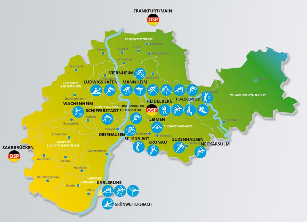 Metropolregion Rhein-Neckar Karte