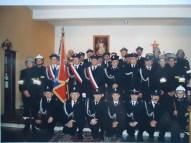 Strażacy biorący udział w Mszy Rezurekcyjnej