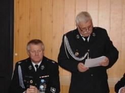 Dh Wiesław Samojło podczas składania sprawozdania z działalności OSP