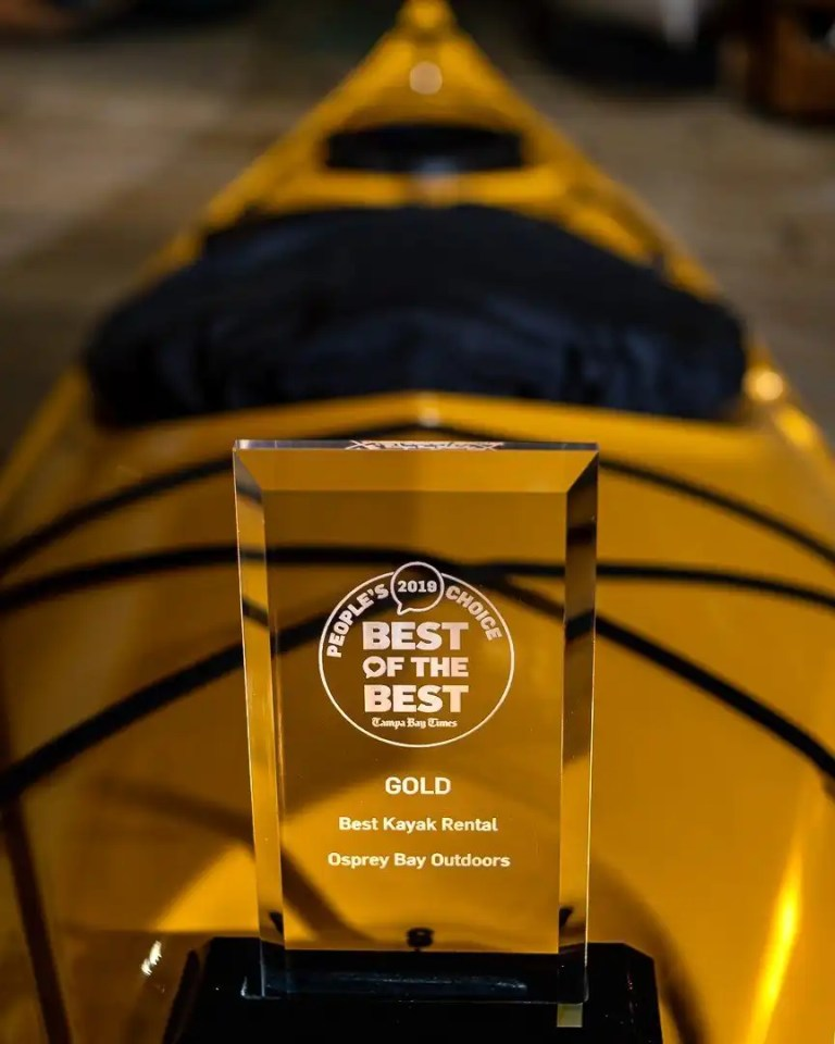 "Best of the Best Award ""Best Kayak Rental"""