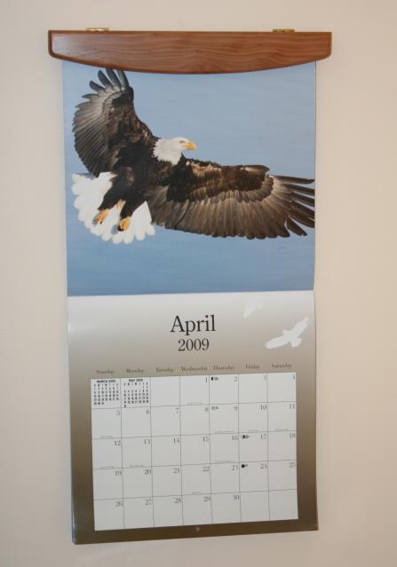 Calendar Holders or Wall Hangers Solid Wood