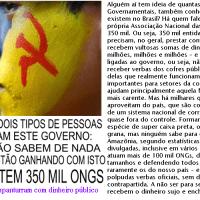 O BRASIL TEM 350 MIL ONGS