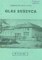 Ogranak Seljačke sloge – Glas Buševca br. 2