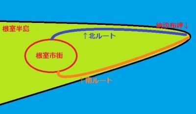 納沙布ルート簡略図
