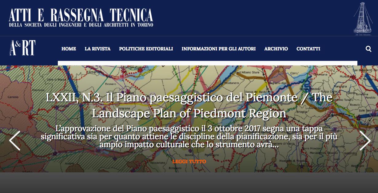 Monografia sul Piano Paesaggistico del Piemonte