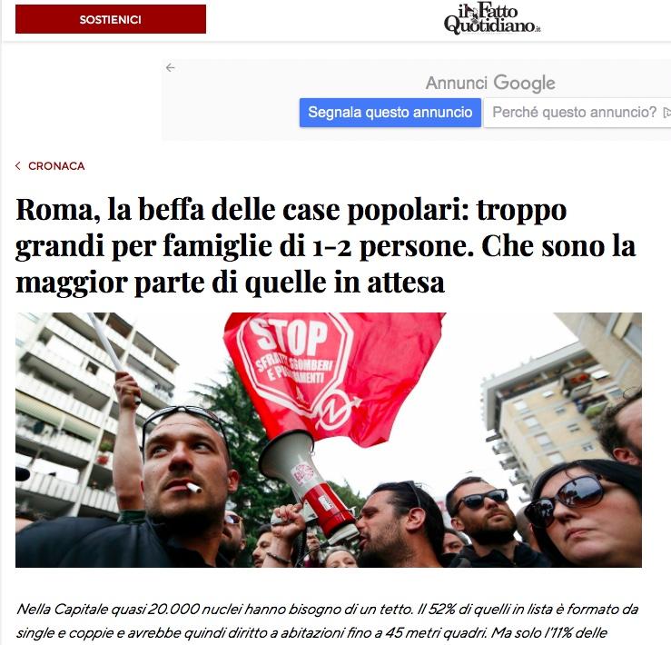 Roma, la beffa delle case popolari: troppo grandi per famiglie di 1-2 persone. Che sono la maggior parte di quelle in attesa di Vincenzo Bisbiglia