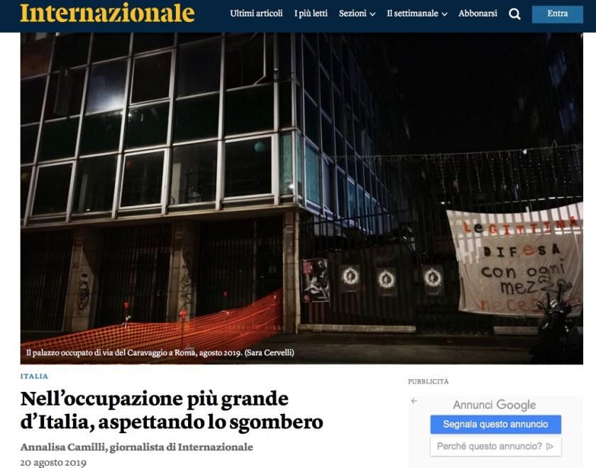 Nell'occupazione più grande d'Italia, aspettando lo sgombero Annalisa Camilli