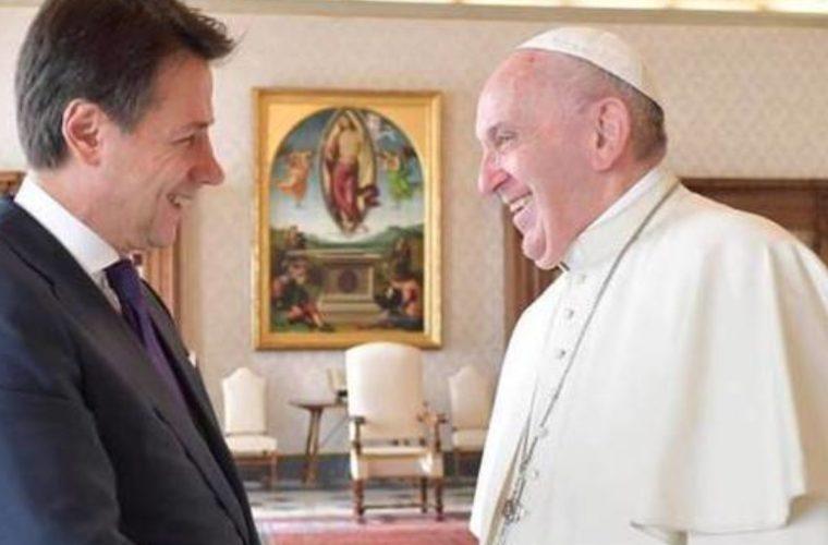 Papa Francesco e Conte in Vaticano