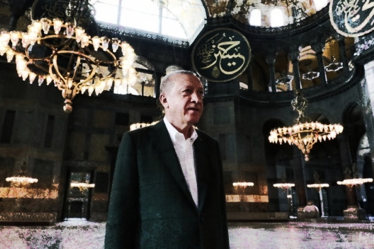 Turchia -erdogan-santa-sofia