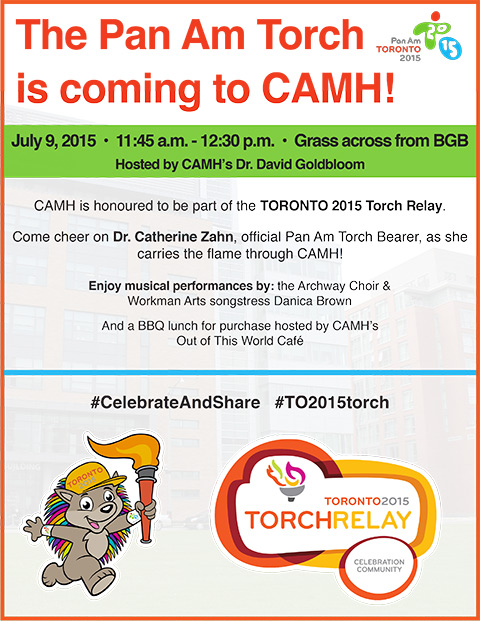 CAMH Pan Am Torch Relay Poster