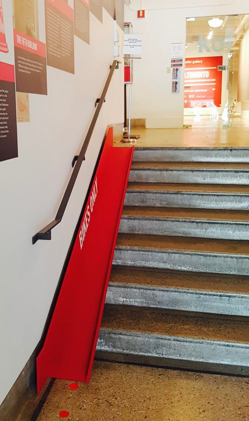 Bike Ramp out of the Gallery