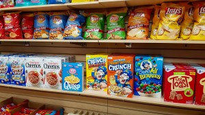 chips and cereals
