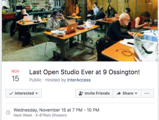 InterAccess Last Open Studio
