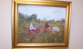 September-October Art Display with Paintings by Lucy Thompson Merrow