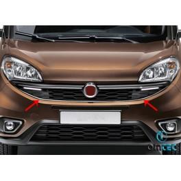 Ornamente inox contur grila radiator Fiat Doblo