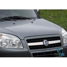 Ornamente inox grila radiator Fiat Doblo 2003-2009