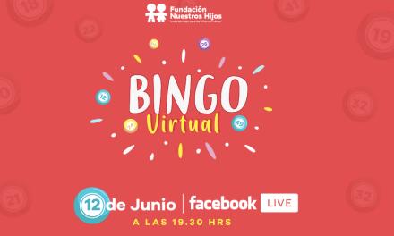Fundación Nuestros Hijos invita a participar de un nuevo bingo virtual en beneficio de los niños con cáncer