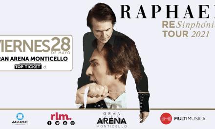 """""""RAPHAEL RESINPHÓNICO: LA GALA"""" EN GRAN ARENA MONTICELLO TIENE NUEVA FECHA"""
