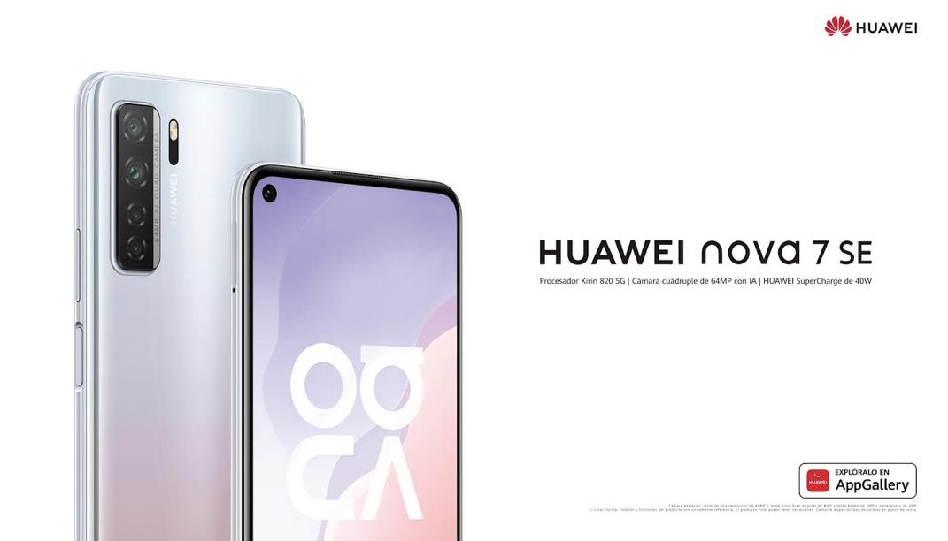 Llegó a Chile el HUAWEI Nova 7 SE: gran pantalla, cuatro cámaras principales y un poderoso procesador con inteligencia artificial