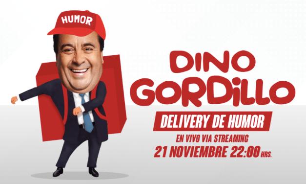 """El aclamado humorista nacional  DINO GORDILLO  presenta su nuevo espectáculo  """"DELIVERY DE HUMOR"""""""