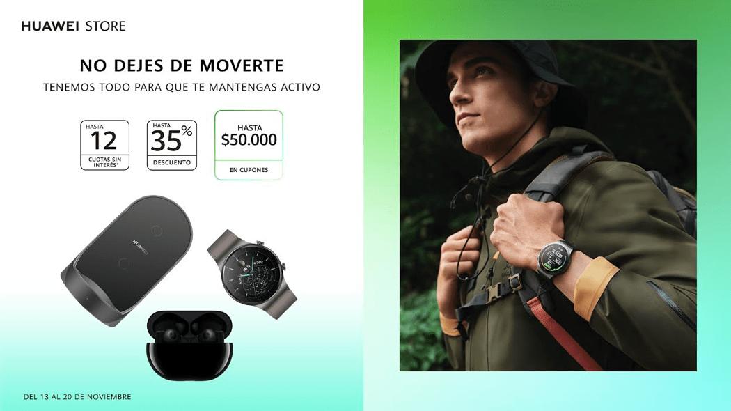 """Equípate con los mejores dispositivos deportivos: HUAWEI Store lanzó la campaña """"No dejes de moverte"""""""