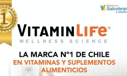 VITAMINLIFE ES RECONOCIDA POR SEGUNDO AÑO COMO LA MARCA Nº1 DE CHILE EN VITAMINAS Y SUPLEMENTOS