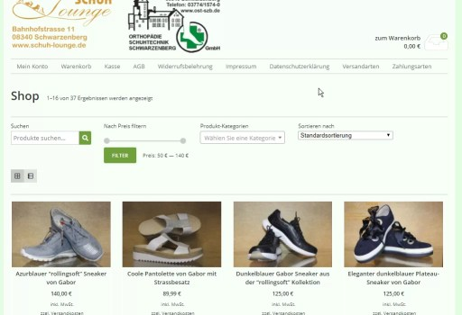 Shop - Schuhe Schwarzenberg