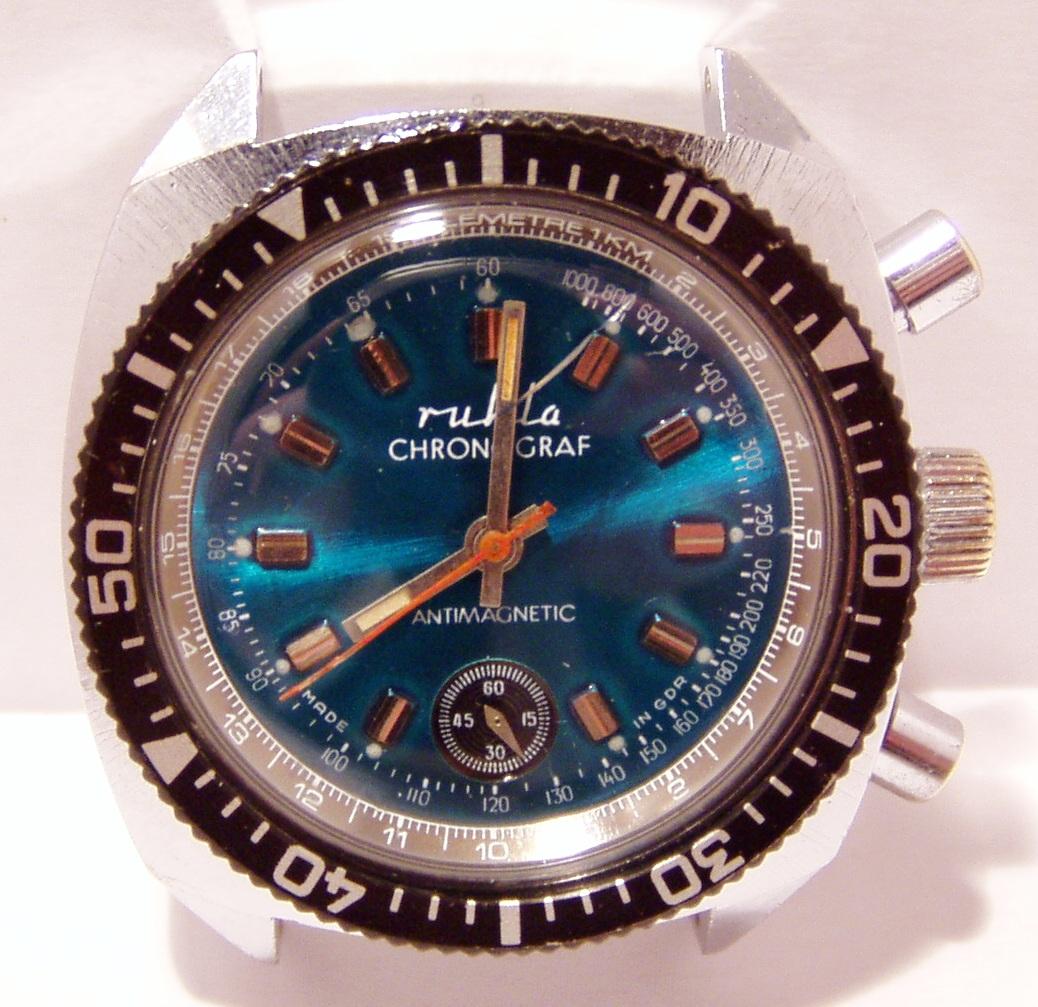Ruhla Chronograph Calibre 2435  OstalgieRuhla Watches of the GDR