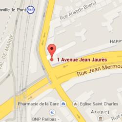 Itinéraire cabinet d'ostéopathe à Joinville-Le-Pont