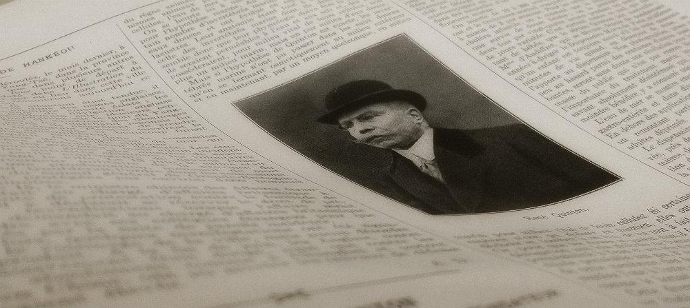 Photo de René Quinton dans un article posthume paru dans le journal L'Illustration le 13 juillet 1925