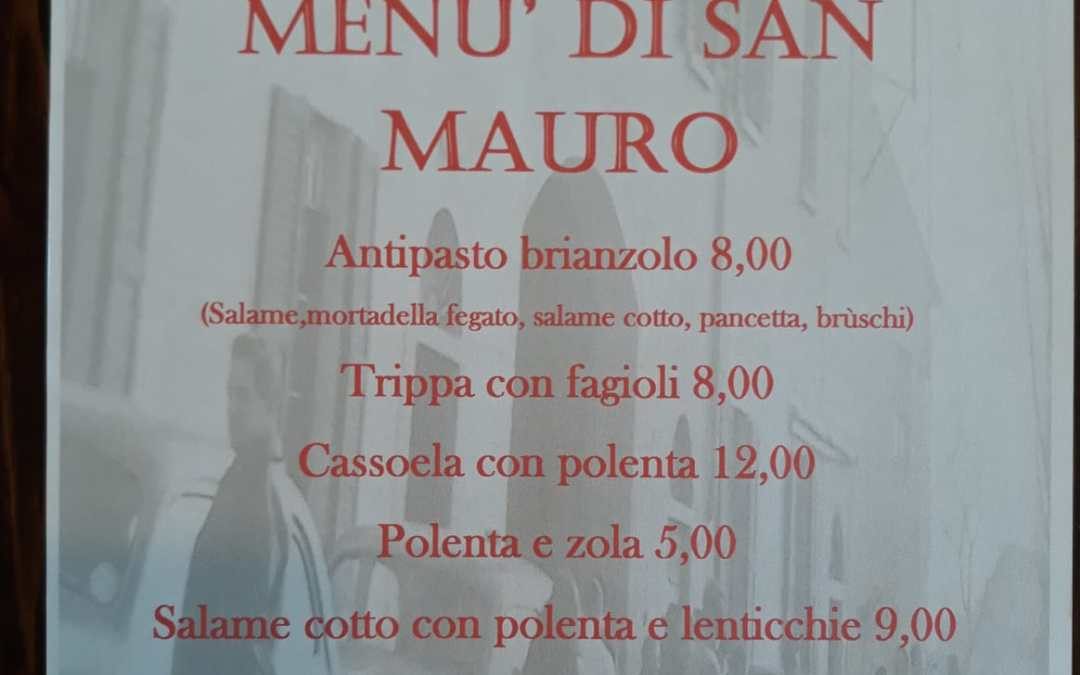 Osteria Galliani: Menù di San Mauro