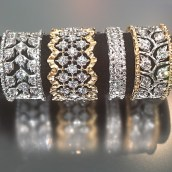 Buccellati Diamond Bands at Oster Jewelers
