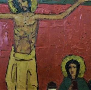 12. Station: Jesus stirbt am Kreuz  Die Endgültigkeit des Todes. Nach dem Leiden kommt die Stille. Die Schwelle ist überschritten. Das Dunkel des Todes nimmt die Verstorbenen auf. Die Lebenden bleiben zurück. So viele sind in den letzten Monaten gestorben. So viele Opfer zu beklagen. Es bleiben die Erinnerung, das Gedenken und das Gebet. Es bleibt die Hoffnung auf die Erlösung, die Zuversicht der Glaubenden auf die Auferstehung.  Wir beten:  Für die Verstorbenen der Corona-Zeit: Christus, nimm dich ihrer an.  Für die Toten der Kriege und des Terrors: Christus,…  Für alle, die aus unseren Gemeinden und Familien entschlafen sind: Christus,…  Für die Angehörigen und Freunde, die um ihre Toten trauern: Christus,…  Für alle, die die Toten auf ihrem letzten Weg begleiten: Christus,…