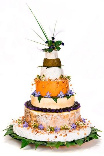Bryllupskage af ost
