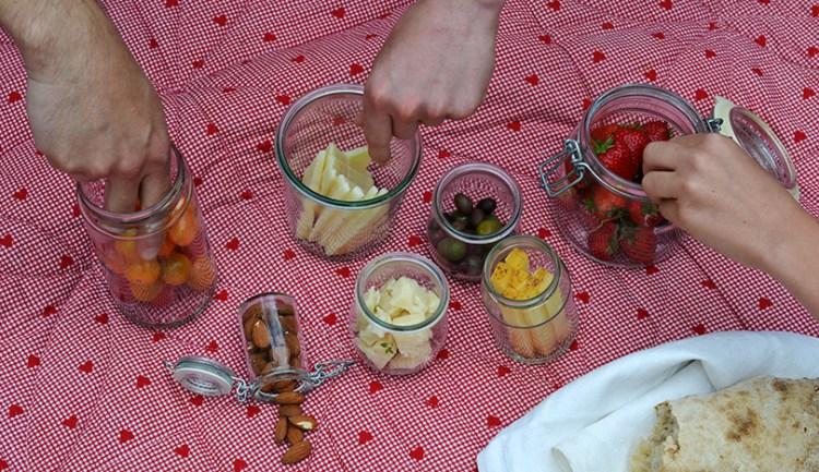 Ostebord som picnic