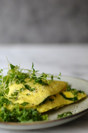 Omelet med blue cheese