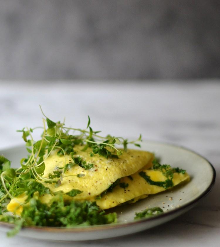 Omelet med blue cheese