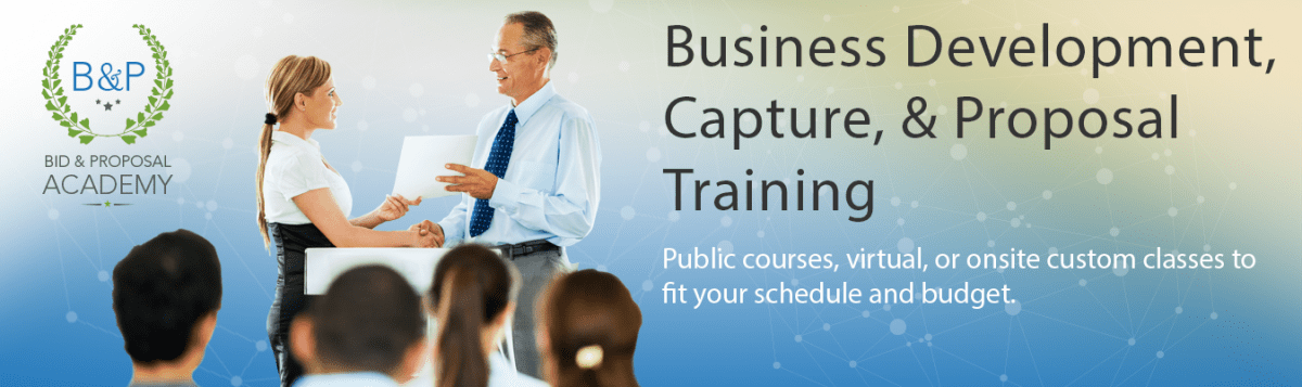 Government Business Development, Capture, & Proposal Training