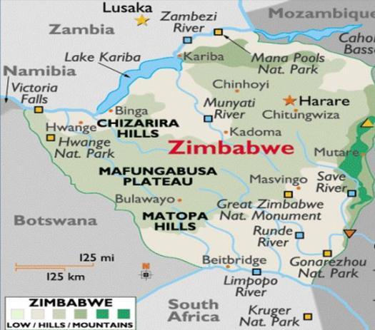 Zimbabwe (Rhodesia) Map