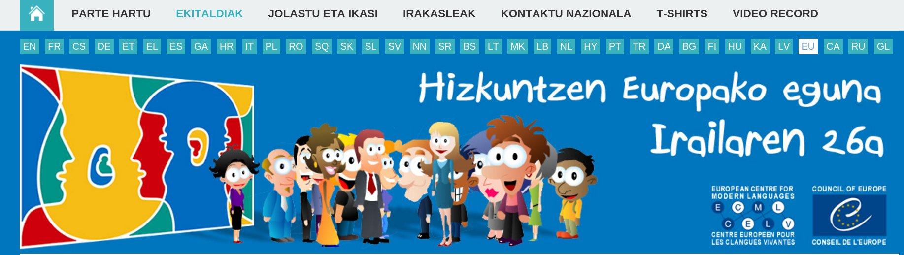 Hizkuntzen Europako eguna irailak 26
