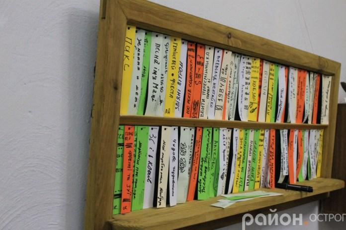 Інтерактивна поличка з улюбленими книгами відвідувачів