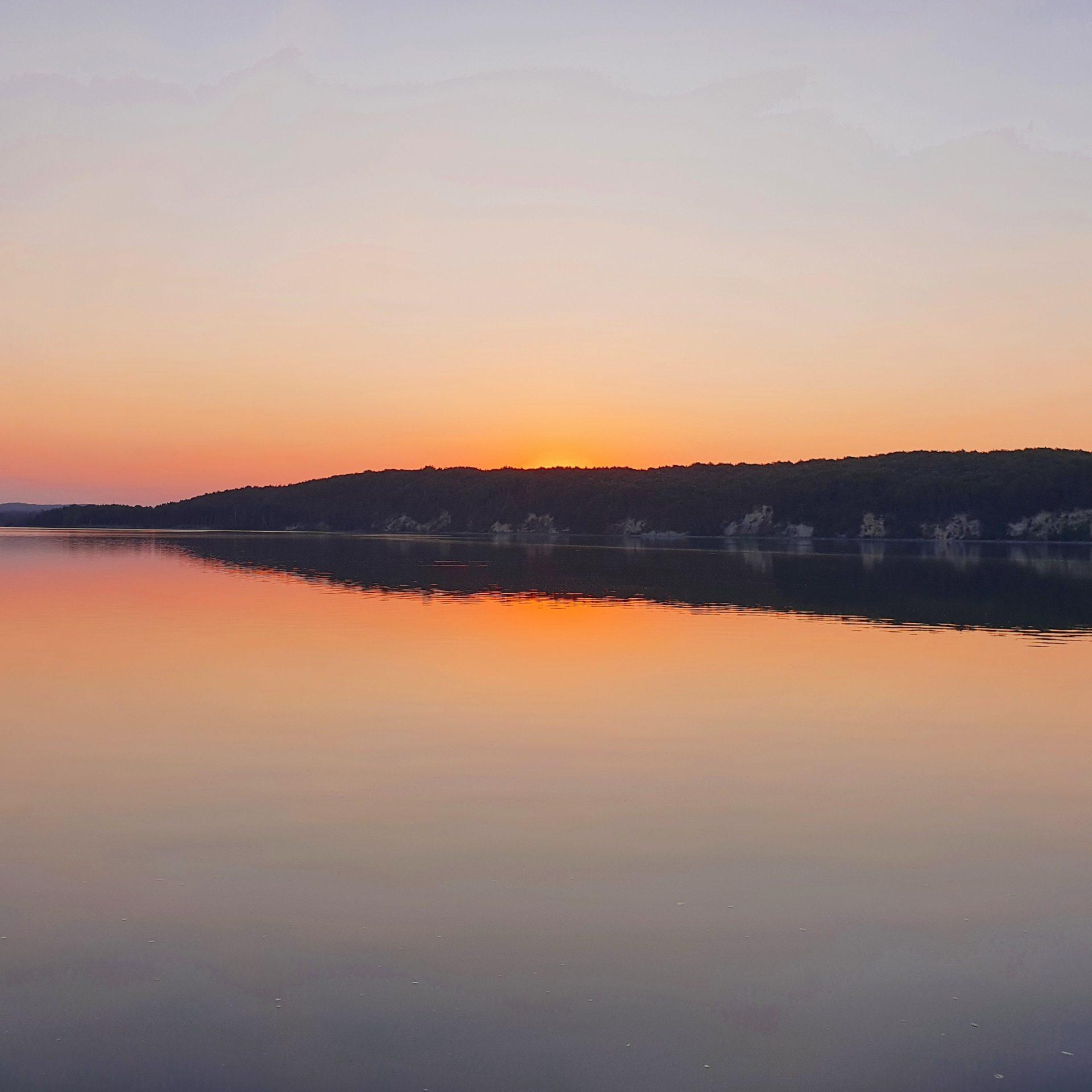 Großer Jasmunder Bodden: Sonnenaufgang