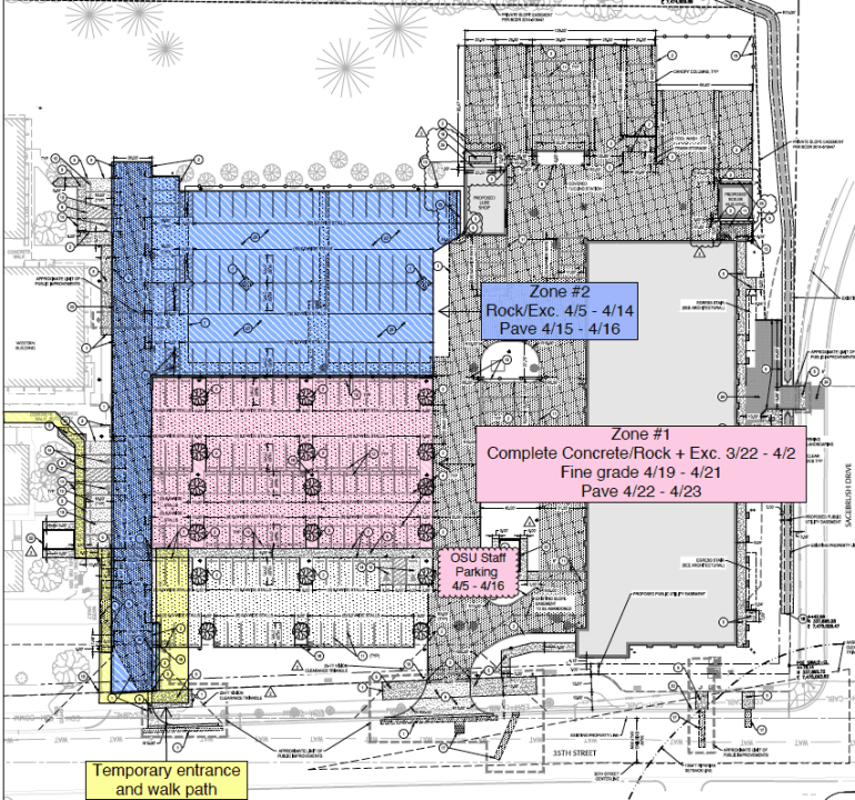 Western Building lot area map