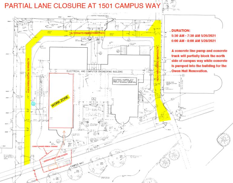 Campus Way area map