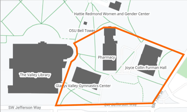 Community Hall Slope Project area map