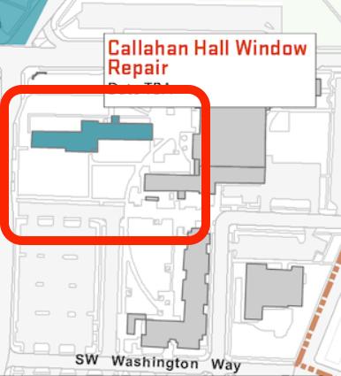 Callahan Hall area map