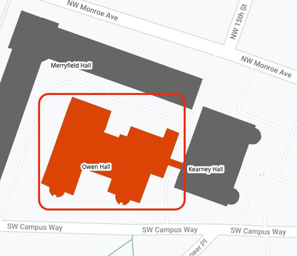 Owen Hall area map