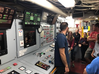 inside the R/V Atlantis