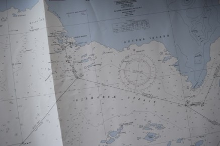 This navigation chart shows the area that we've spent the last week or so