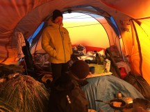 Inside our tent. Photo: (c) Kayleigh Jones